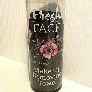 FRESH FACE Black Reusable Makeup Remover Towel